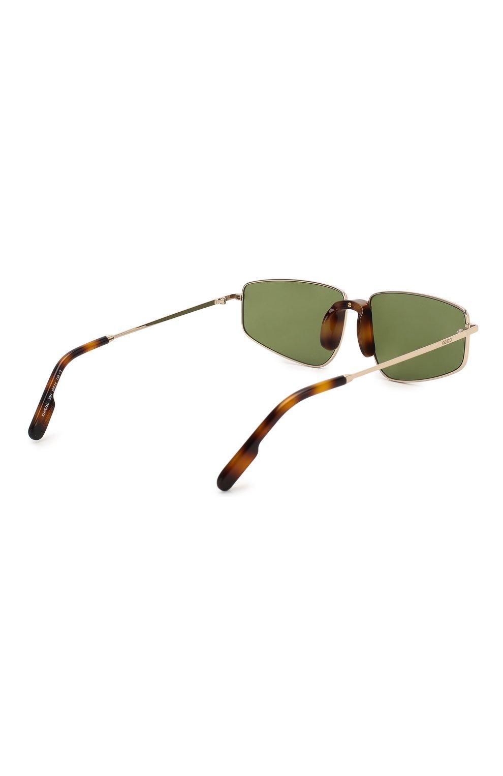 Женские солнцезащитные очки KENZO темно-зеленого цвета, арт. KZ40015U 32N | Фото 4