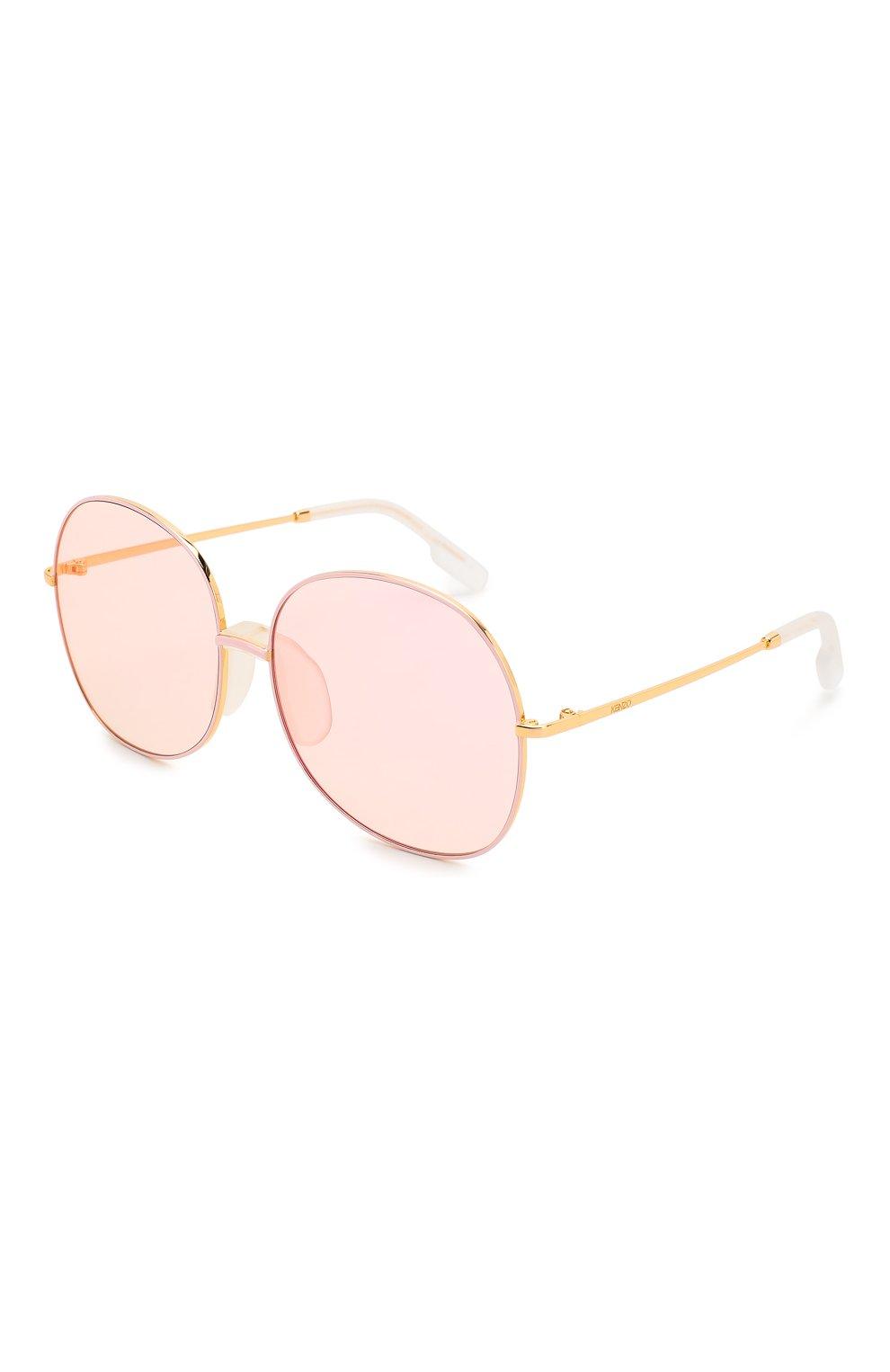 Женские солнцезащитные очки KENZO светло-розового цвета, арт. KZ40017F 30C | Фото 1
