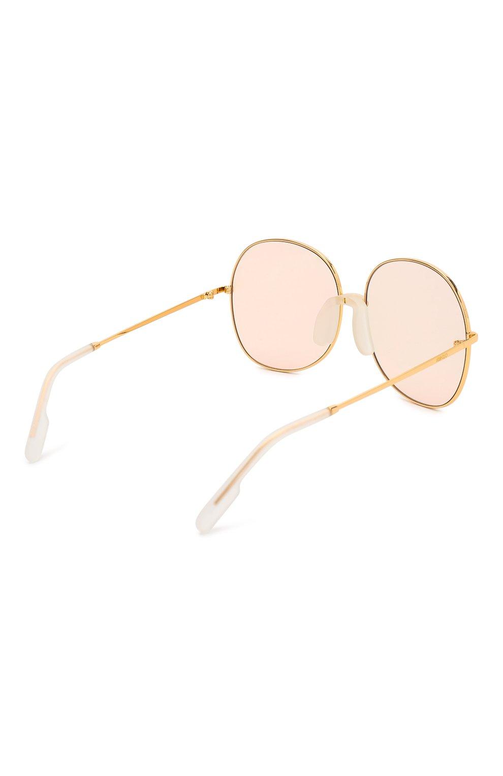 Женские солнцезащитные очки KENZO светло-розового цвета, арт. KZ40017F 30C | Фото 4