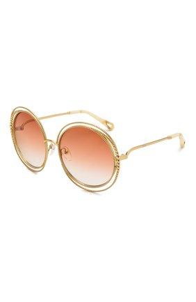Женские солнцезащитные очки CHLOÉ оранжевого цвета, арт. 114SC-724   Фото 1