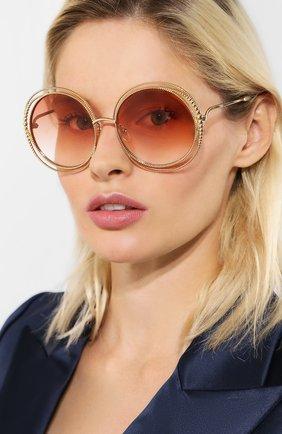 Женские солнцезащитные очки CHLOÉ оранжевого цвета, арт. 114SC-724   Фото 2