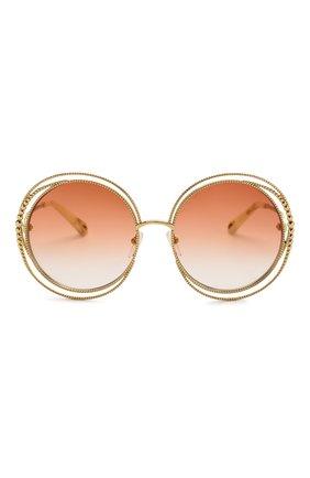 Женские солнцезащитные очки CHLOÉ оранжевого цвета, арт. 114SC-724   Фото 3