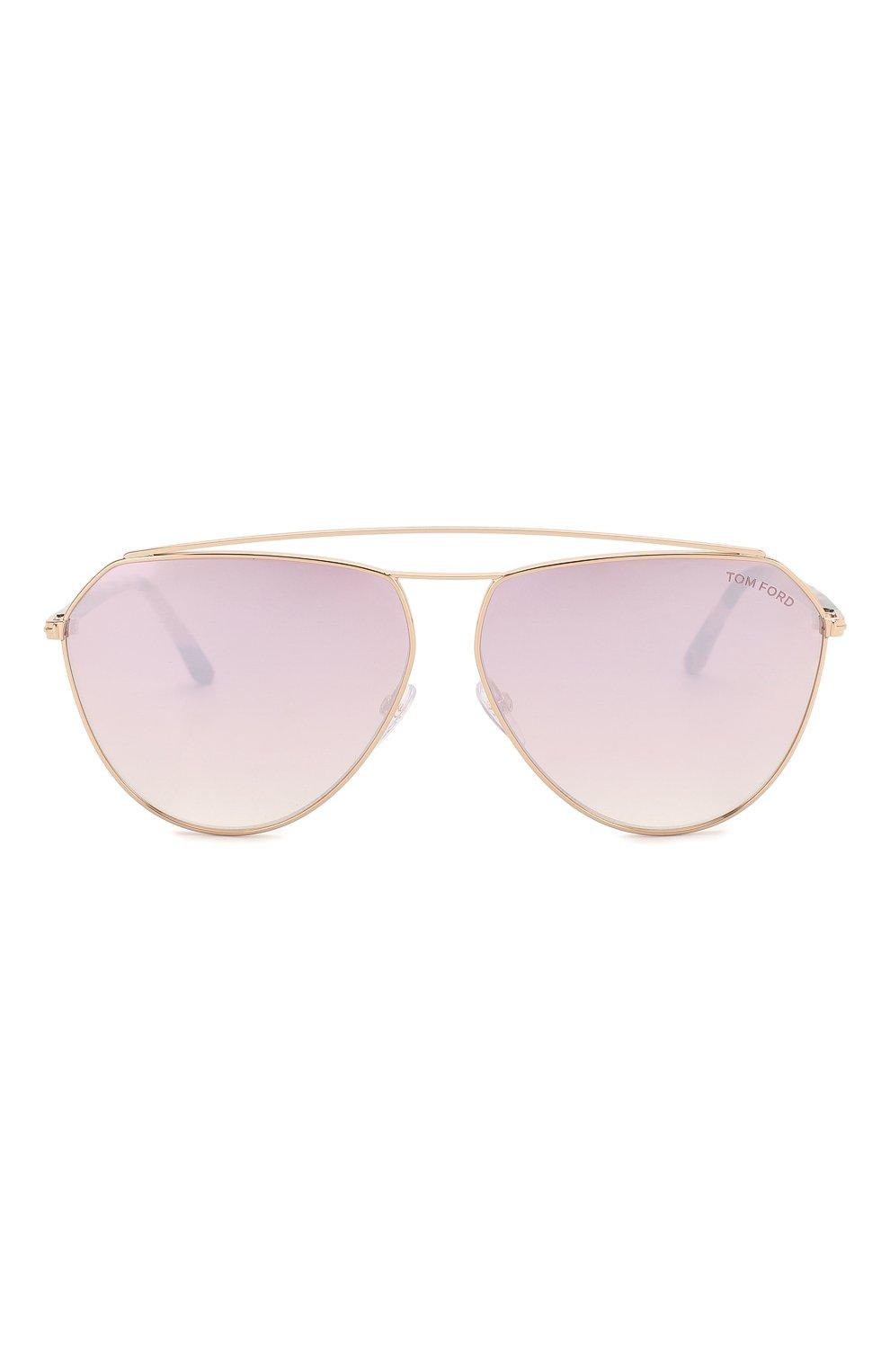 Женские солнцезащитные очки TOM FORD светло-розового цвета, арт. TF681 28Z   Фото 3