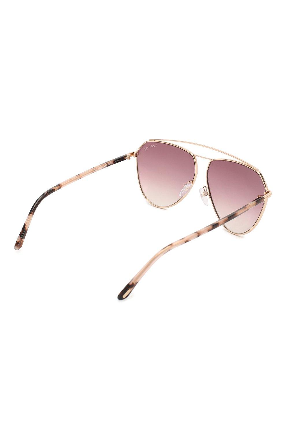 Женские солнцезащитные очки TOM FORD светло-розового цвета, арт. TF681 28Z   Фото 4