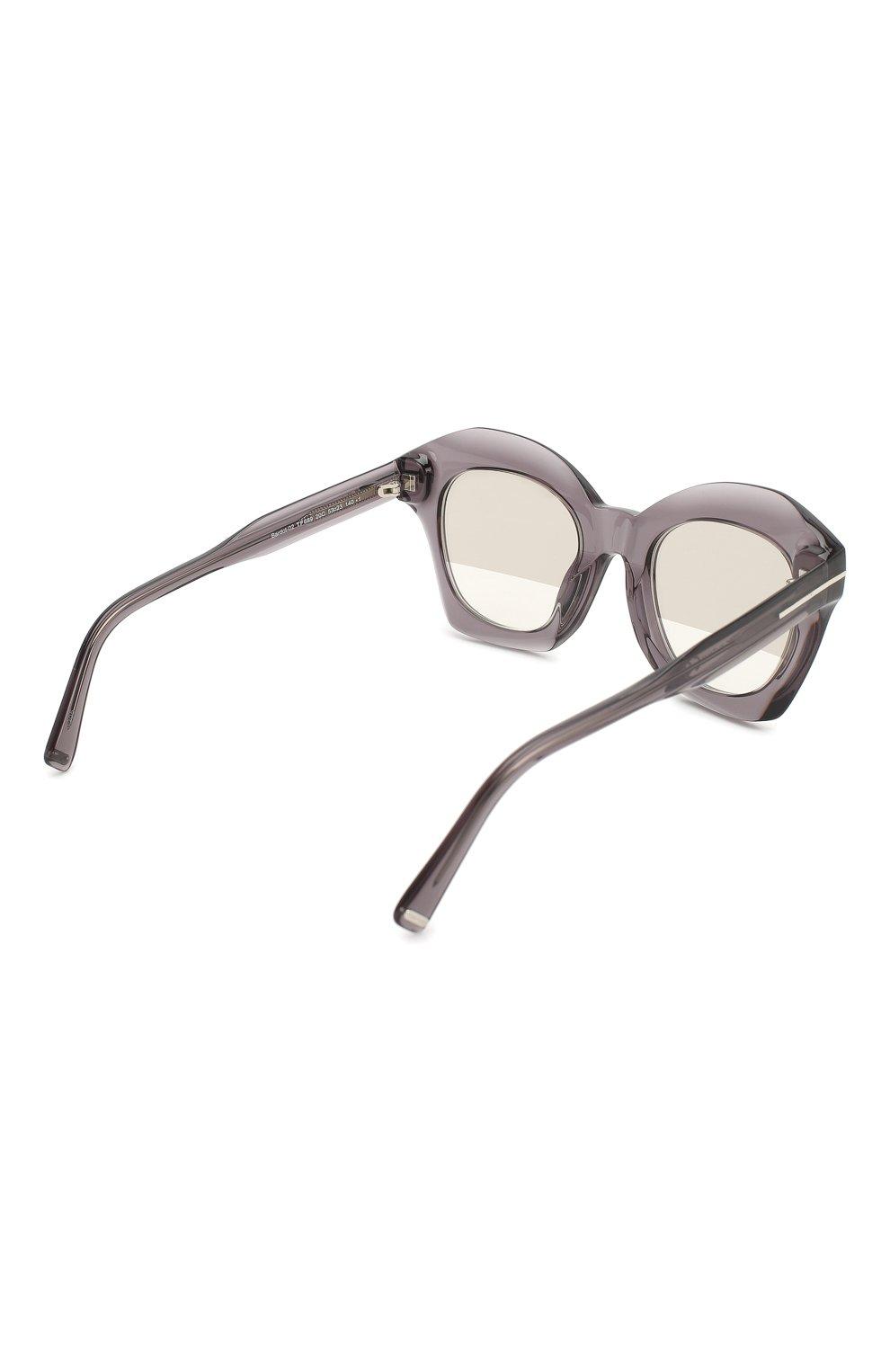 Женские солнцезащитные очки TOM FORD серого цвета, арт. TF689 20C | Фото 4