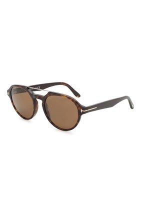 Мужские солнцезащитные очки TOM FORD коричневого цвета, арт. TF696 52H | Фото 1