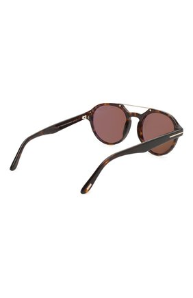 Мужские солнцезащитные очки TOM FORD коричневого цвета, арт. TF696 52H | Фото 3