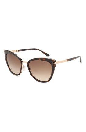 Солнцезащитные очки Tom Ford коричневые | Фото №1