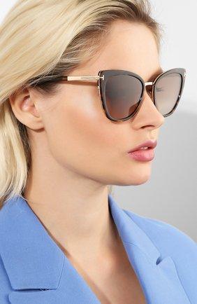 Солнцезащитные очки Tom Ford коричневые | Фото №2