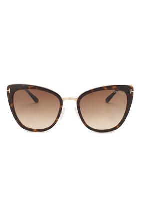Солнцезащитные очки Tom Ford коричневые | Фото №3