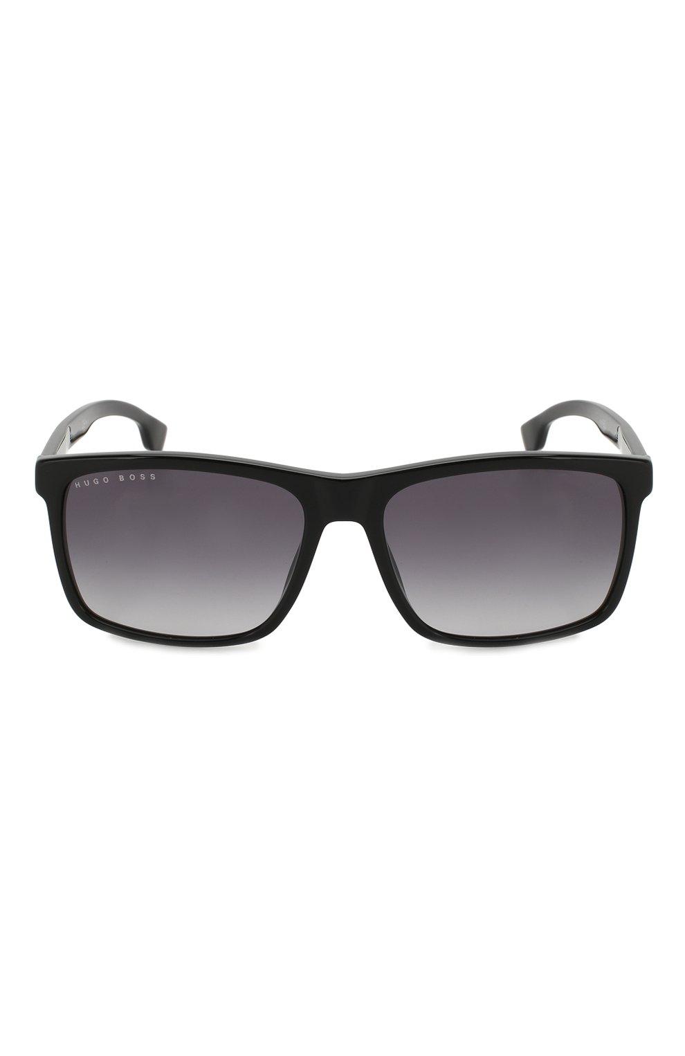 Мужские солнцезащитные очки BOSS черного цвета, арт. 1036 807 | Фото 2