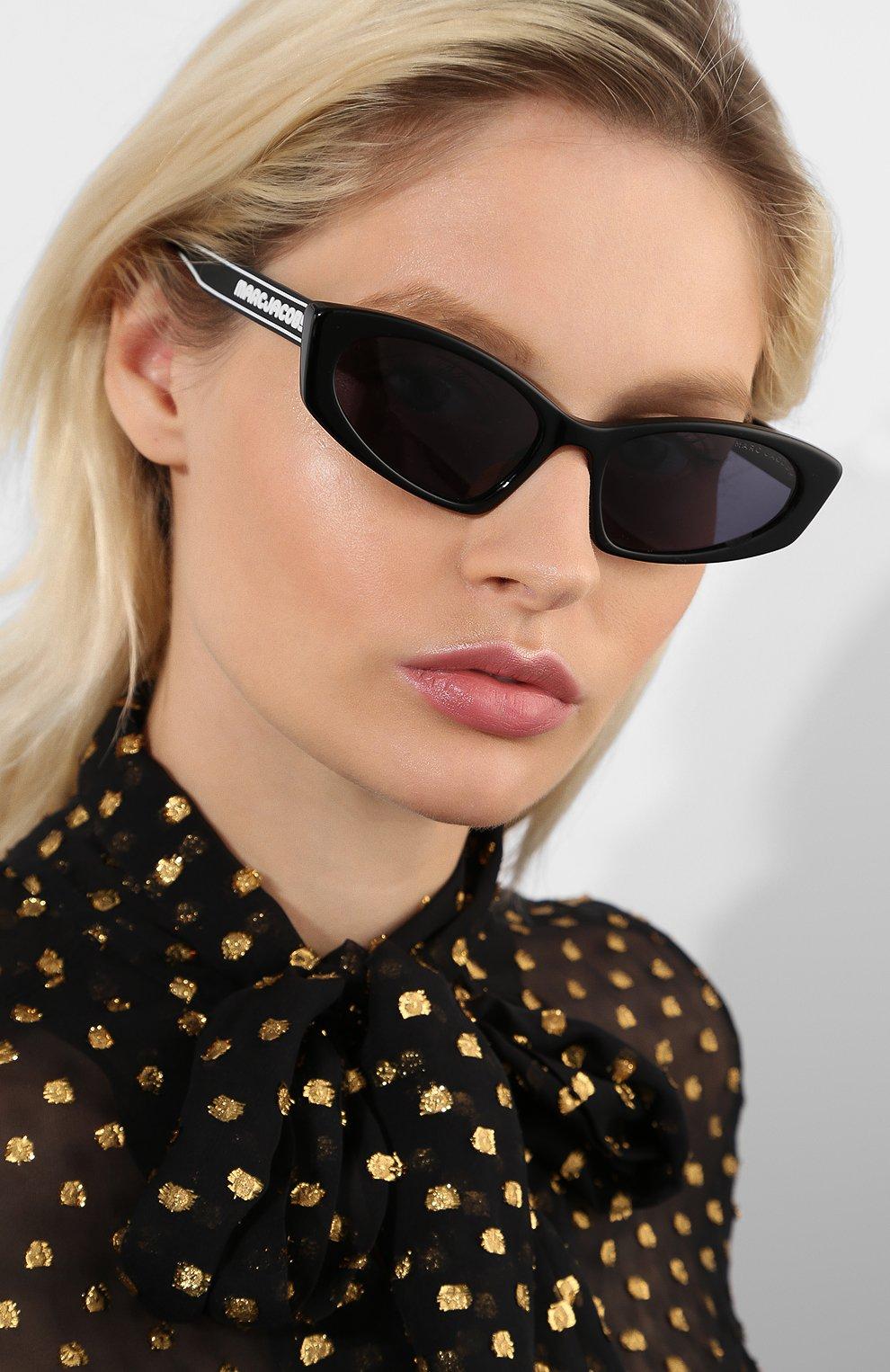 Женские солнцезащитные очки MARC JACOBS (THE) черного цвета, арт. MARC 356 807 | Фото 2