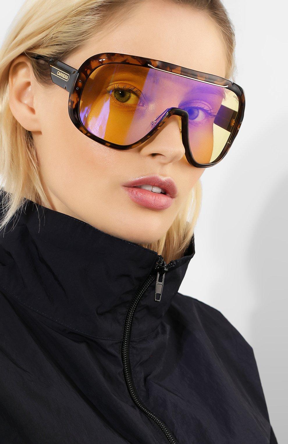 Солнцезащитные очки Carrera коричневые | Фото №2