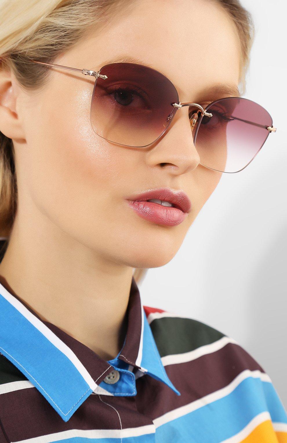 Женские солнцезащитные очки OLIVER PEOPLES бордового цвета, арт. 1265S-50378H | Фото 2
