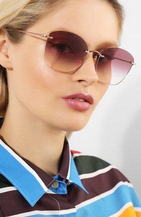 Мужские солнцезащитные очки OLIVER PEOPLES бордового цвета, арт. 1265S-50378H | Фото 2