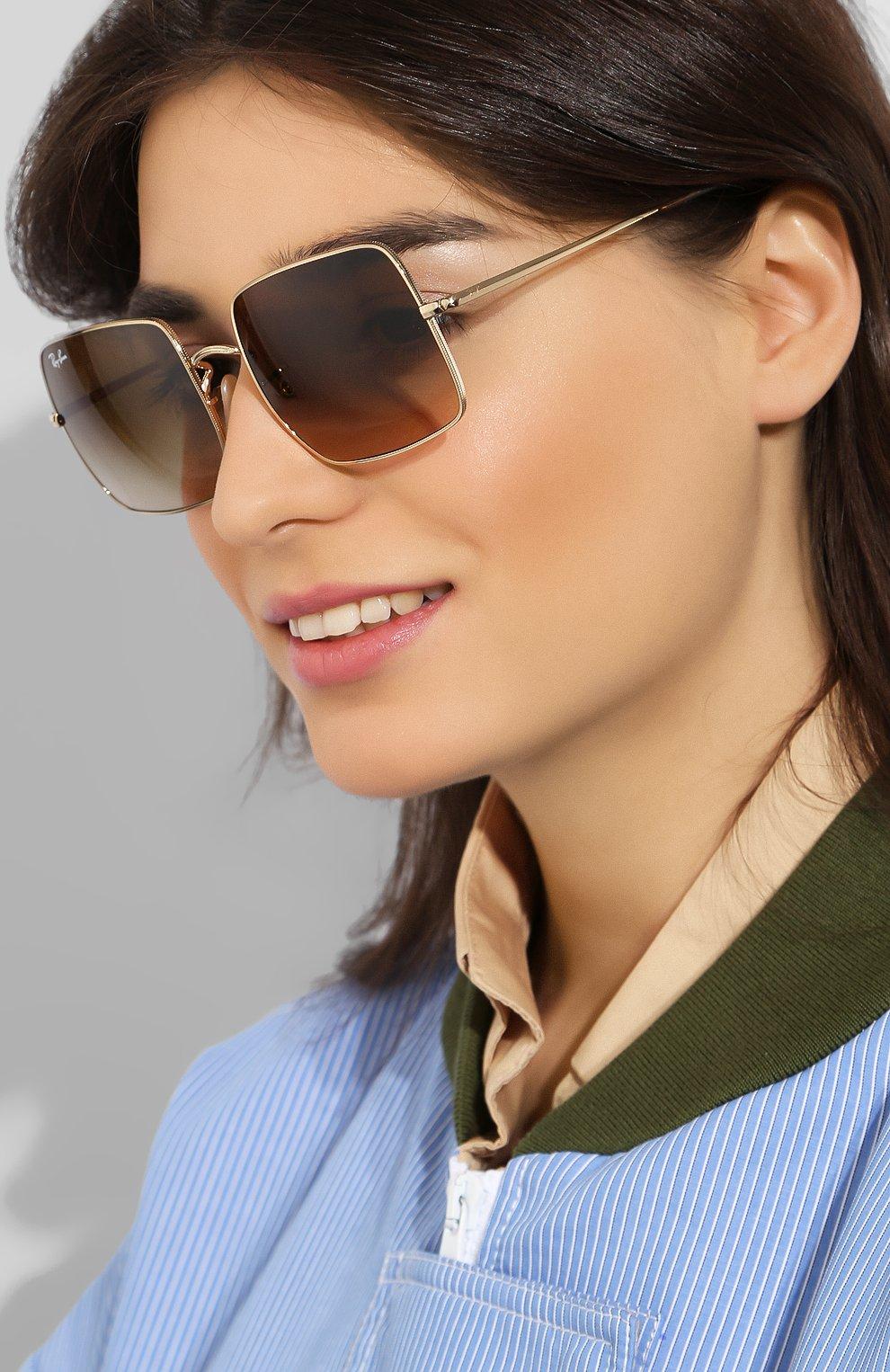 Солнцезащитные очки Ray-Ban коричневые | Фото №2