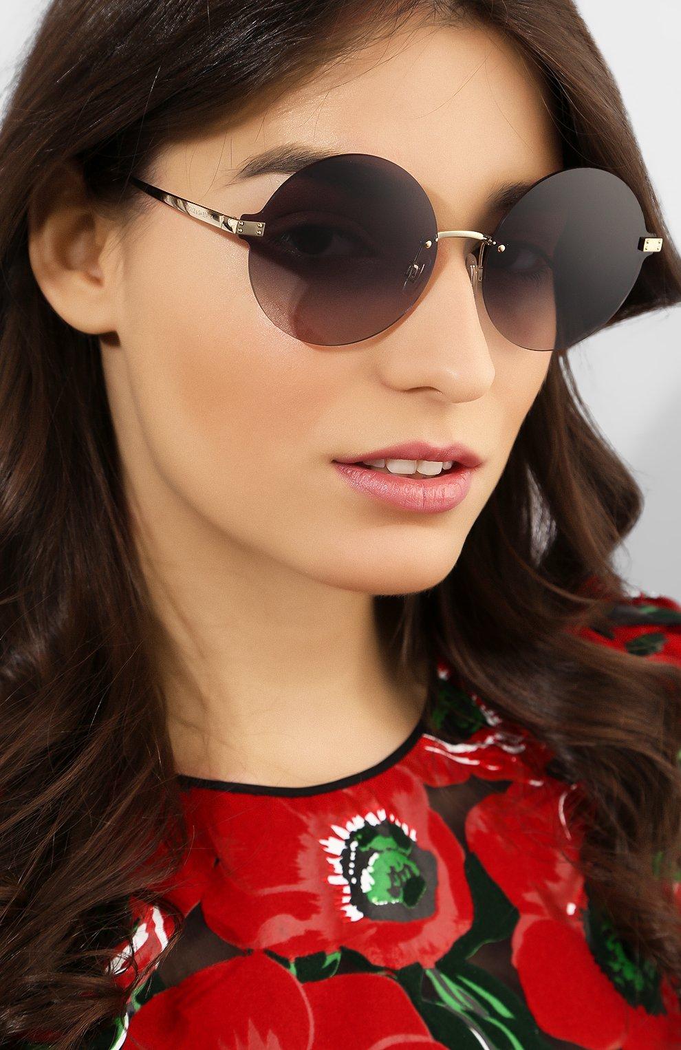 Солнцезащитные очки Dolce & Gabbana темно-серые | Фото №2