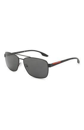Мужские солнцезащитные очки PRADA LINEA ROSSA черного цвета, арт. 51US-1AB5S0   Фото 1