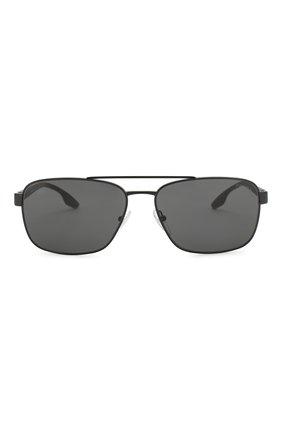 Мужские солнцезащитные очки PRADA LINEA ROSSA черного цвета, арт. 51US-1AB5S0   Фото 2