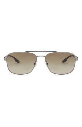Мужские солнцезащитные очки PRADA LINEA ROSSA темно-серого цвета, арт. 51US-5AV1X1 | Фото 2
