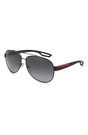 Мужские солнцезащитные очки PRADA LINEA ROSSA черного цвета, арт. 55QS-1AB5W1   Фото 1