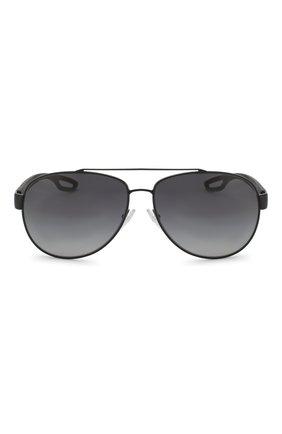Мужские солнцезащитные очки PRADA LINEA ROSSA черного цвета, арт. 55QS-1AB5W1   Фото 2