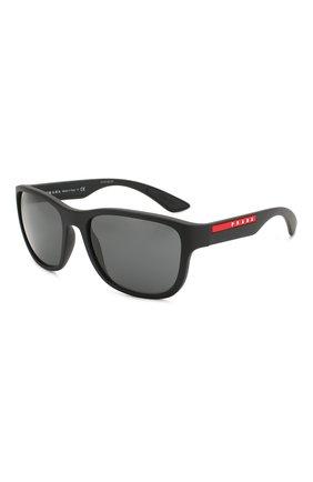 Мужские солнцезащитные очки PRADA LINEA ROSSA черного цвета, арт. 01US-DG05S0 | Фото 1