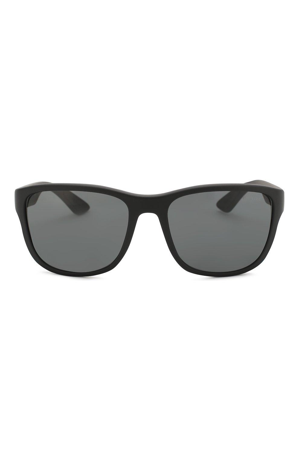 Мужские солнцезащитные очки PRADA LINEA ROSSA черного цвета, арт. 01US-DG05S0 | Фото 2