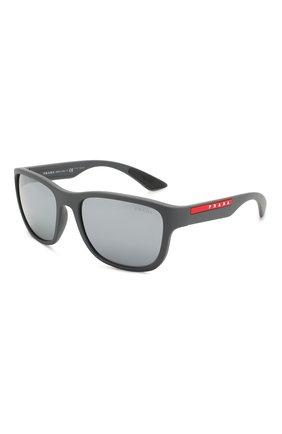Мужские солнцезащитные очки PRADA LINEA ROSSA серого цвета, арт. 01US-UFK5L0 | Фото 1