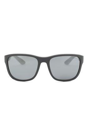 Мужские солнцезащитные очки PRADA LINEA ROSSA серого цвета, арт. 01US-UFK5L0 | Фото 2