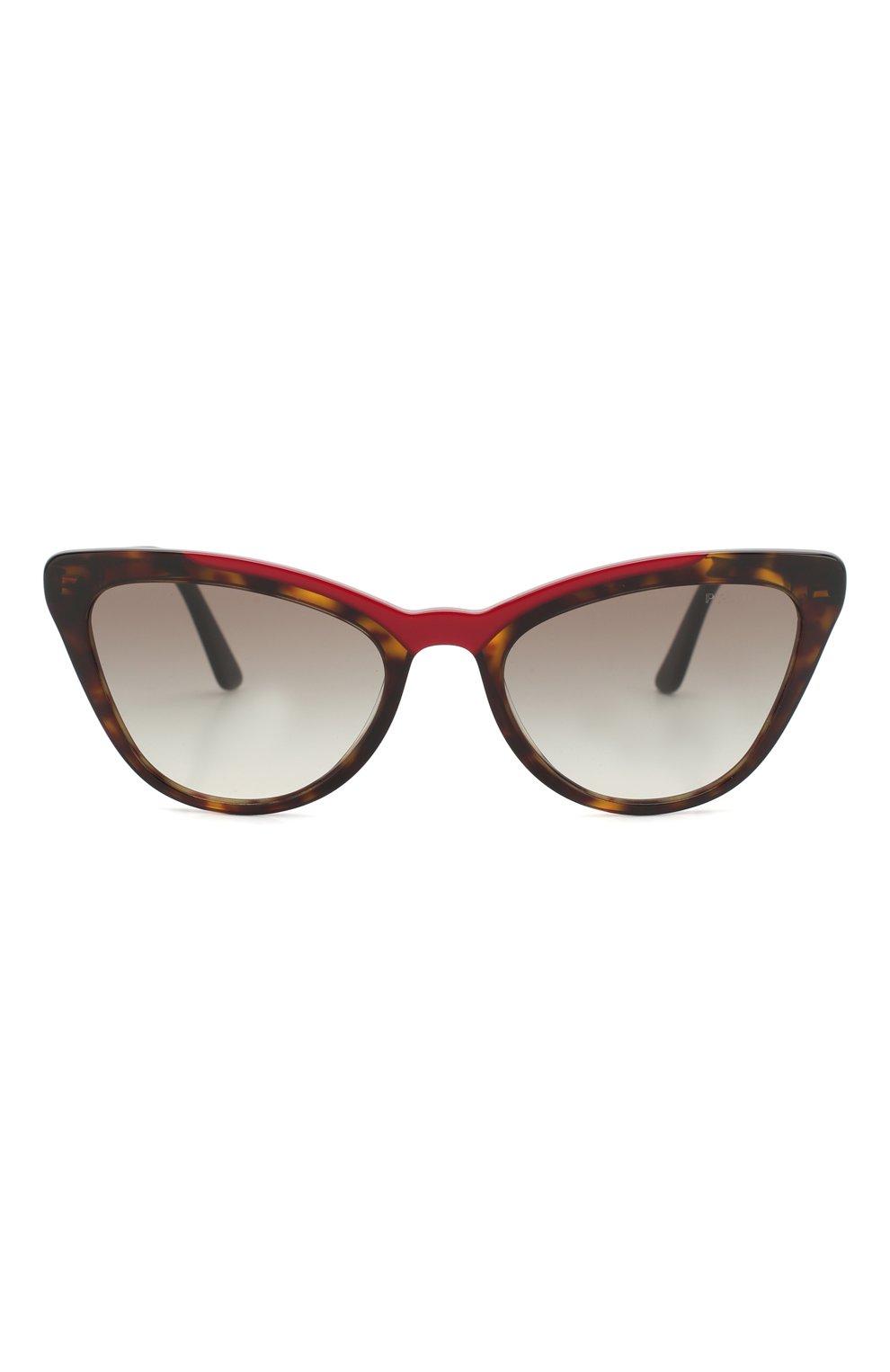 Женские солнцезащитные очки PRADA коричневого цвета, арт. 01VS-3200A7 | Фото 3