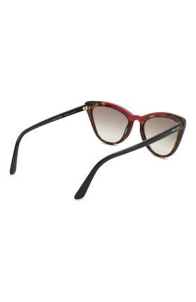Женские солнцезащитные очки PRADA коричневого цвета, арт. 01VS-3200A7 | Фото 4