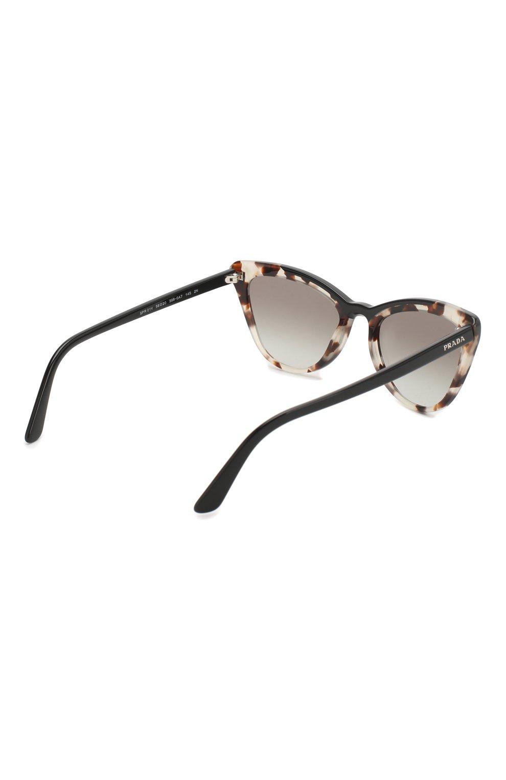 Солнцезащитные очки Prada коричневые | Фото №4