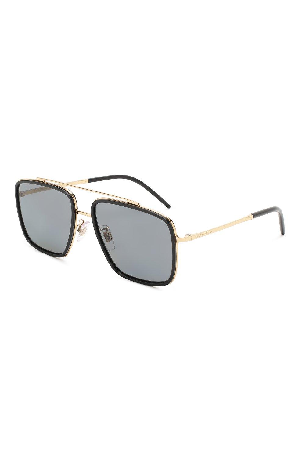 Мужские солнцезащитные очки DOLCE & GABBANA черного цвета, арт. 2220-02/81 | Фото 1
