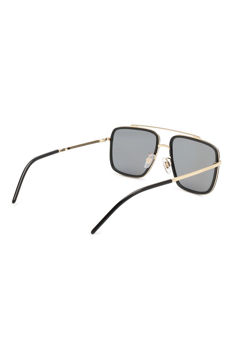 Мужские солнцезащитные очки DOLCE & GABBANA черного цвета, арт. 2220-02/81 | Фото 3
