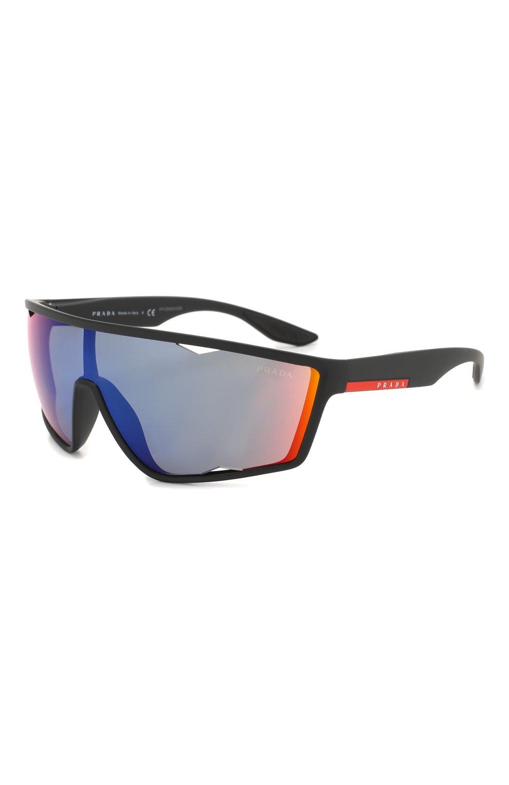 Женские солнцезащитные очки PRADA LINEA ROSSA черного цвета, арт. 09US-DG09Q1   Фото 1