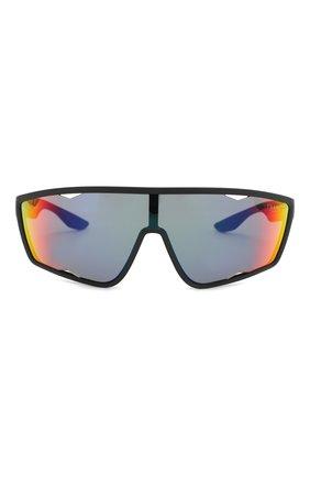 Женские солнцезащитные очки PRADA LINEA ROSSA черного цвета, арт. 09US-DG09Q1   Фото 3