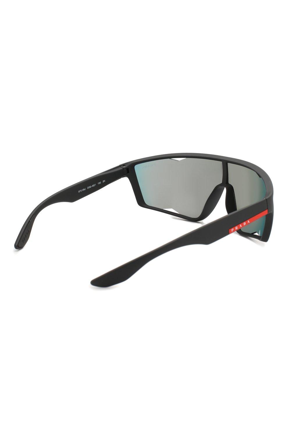 Женские солнцезащитные очки PRADA LINEA ROSSA черного цвета, арт. 09US-DG09Q1   Фото 4