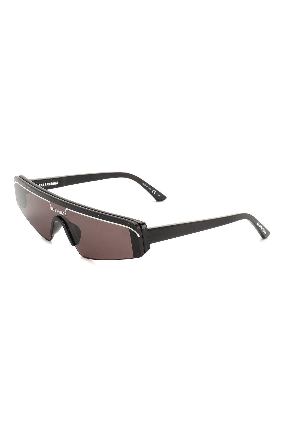 Женские солнцезащитные очки BALENCIAGA черного цвета, арт. BB0003 001 | Фото 1