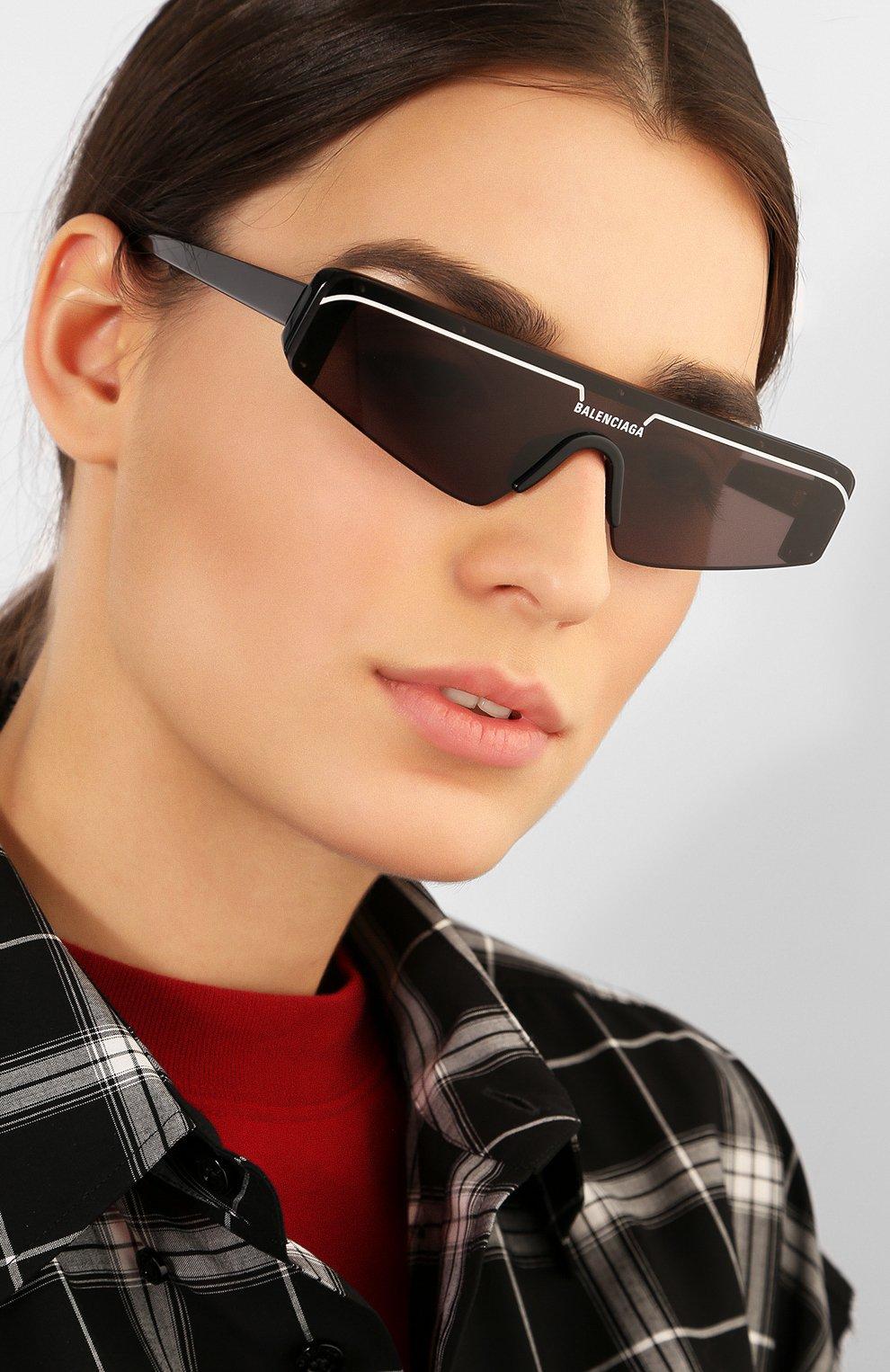 Женские солнцезащитные очки BALENCIAGA черного цвета, арт. BB0003 001 | Фото 2