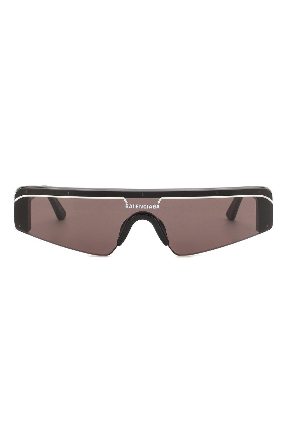 Женские солнцезащитные очки BALENCIAGA черного цвета, арт. BB0003 001 | Фото 3