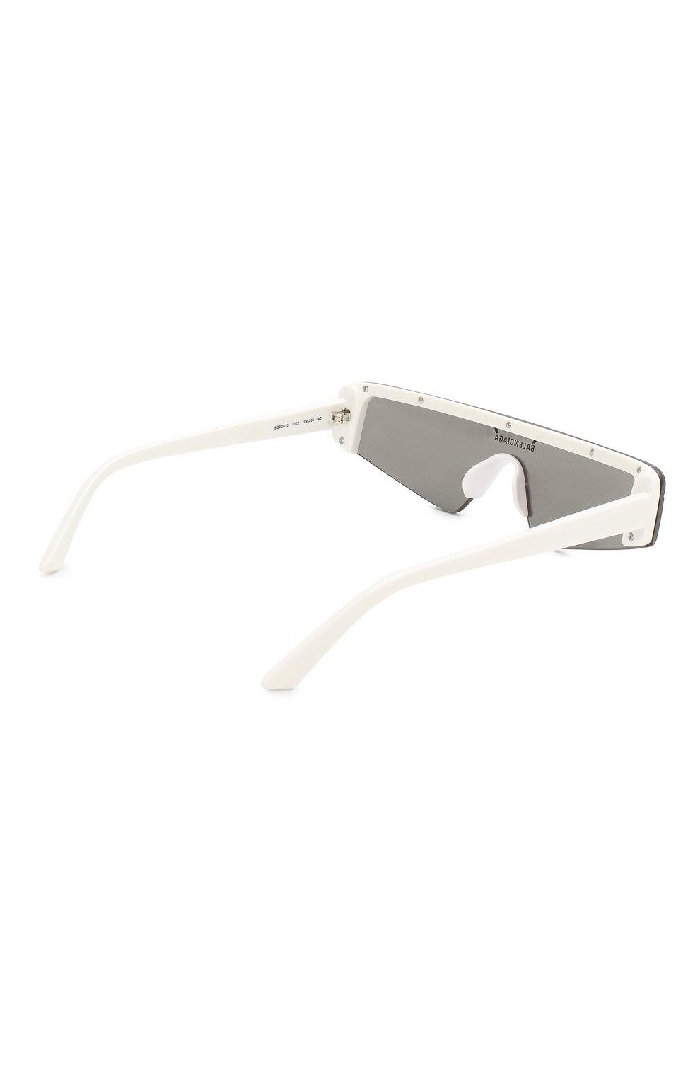 Солнцезащитные очки Balenciaga белые | Фото №4