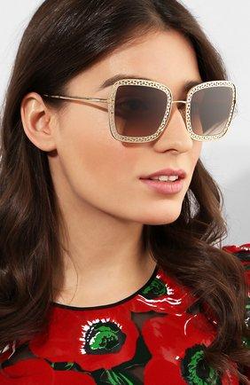 Мужские солнцезащитные очки DOLCE & GABBANA золотого цвета, арт. 2225-02/13 | Фото 2