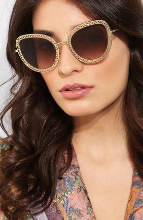 Мужские солнцезащитные очки DOLCE & GABBANA золотого цвета, арт. 2226-02/13 | Фото 2