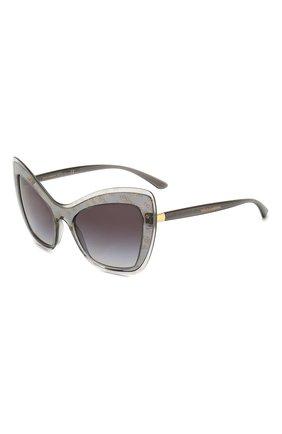 Мужские солнцезащитные очки DOLCE & GABBANA серого цвета, арт. 4364-32138G | Фото 1
