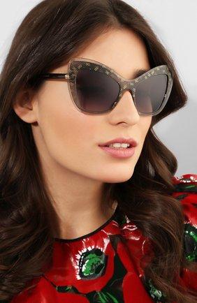 Мужские солнцезащитные очки DOLCE & GABBANA серого цвета, арт. 4364-32138G | Фото 2