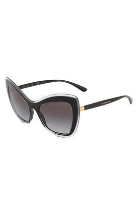 Мужские солнцезащитные очки DOLCE & GABBANA черного цвета, арт. 4364-53838G | Фото 1