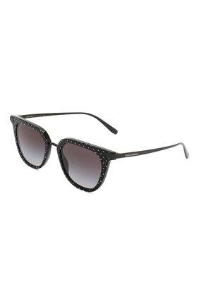 Мужские солнцезащитные очки DOLCE & GABBANA черного цвета, арт. 4363-31268G | Фото 1