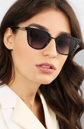 Мужские солнцезащитные очки DOLCE & GABBANA черного цвета, арт. 4363-31268G | Фото 2