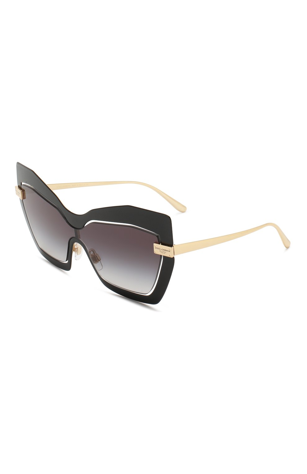 Женские солнцезащитные очки DOLCE & GABBANA черного цвета, арт. 2224-12688G | Фото 1